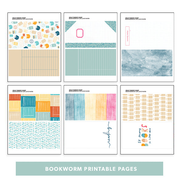 Bookworm Printable Pages