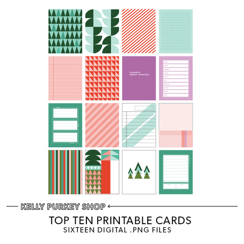 Top Ten List Printable Cards