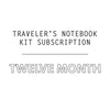 12 Mo. Traveler's Notebook Kit Subscription