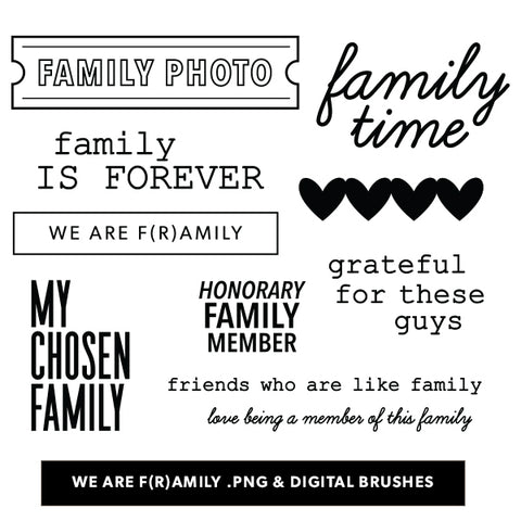 We are F(r)amily Digital Files