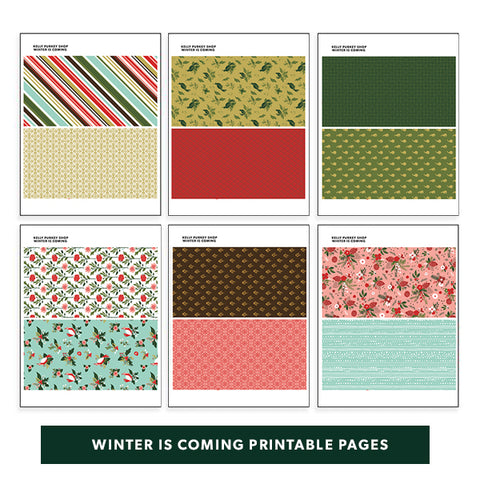 Winter is Coming Printable Pages
