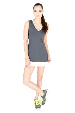 V Neck Sweetheart in Monotone