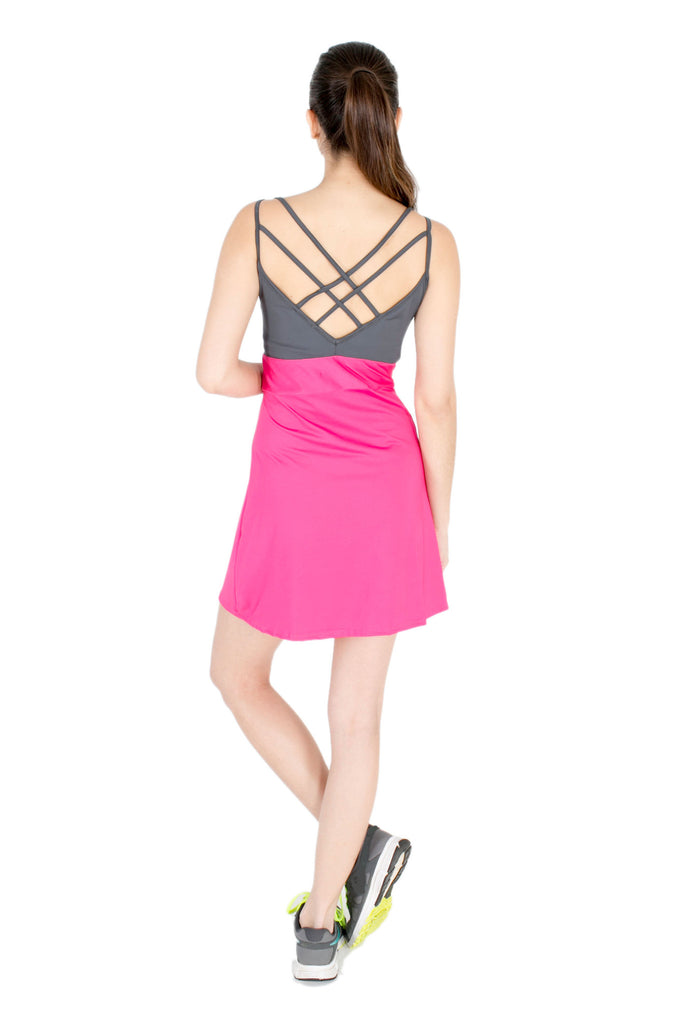 X Back Dress in Pink