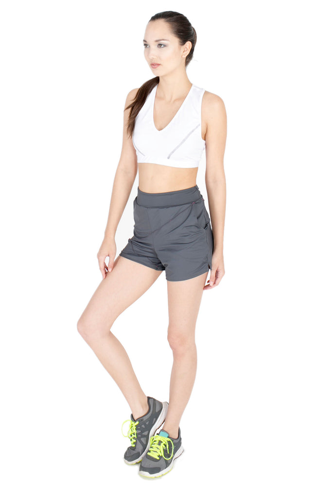 Geometrical Shorts in Cashmere Grey