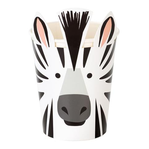 Party animal zebra cups