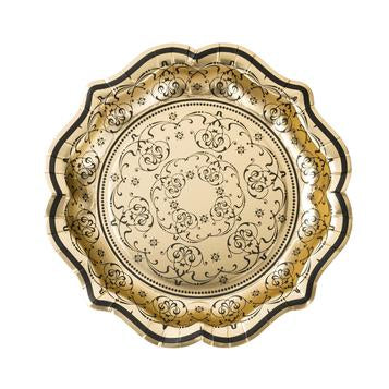 Baroque foiled plates