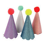 Glitter party hats with Pom Pom - Meri Meri