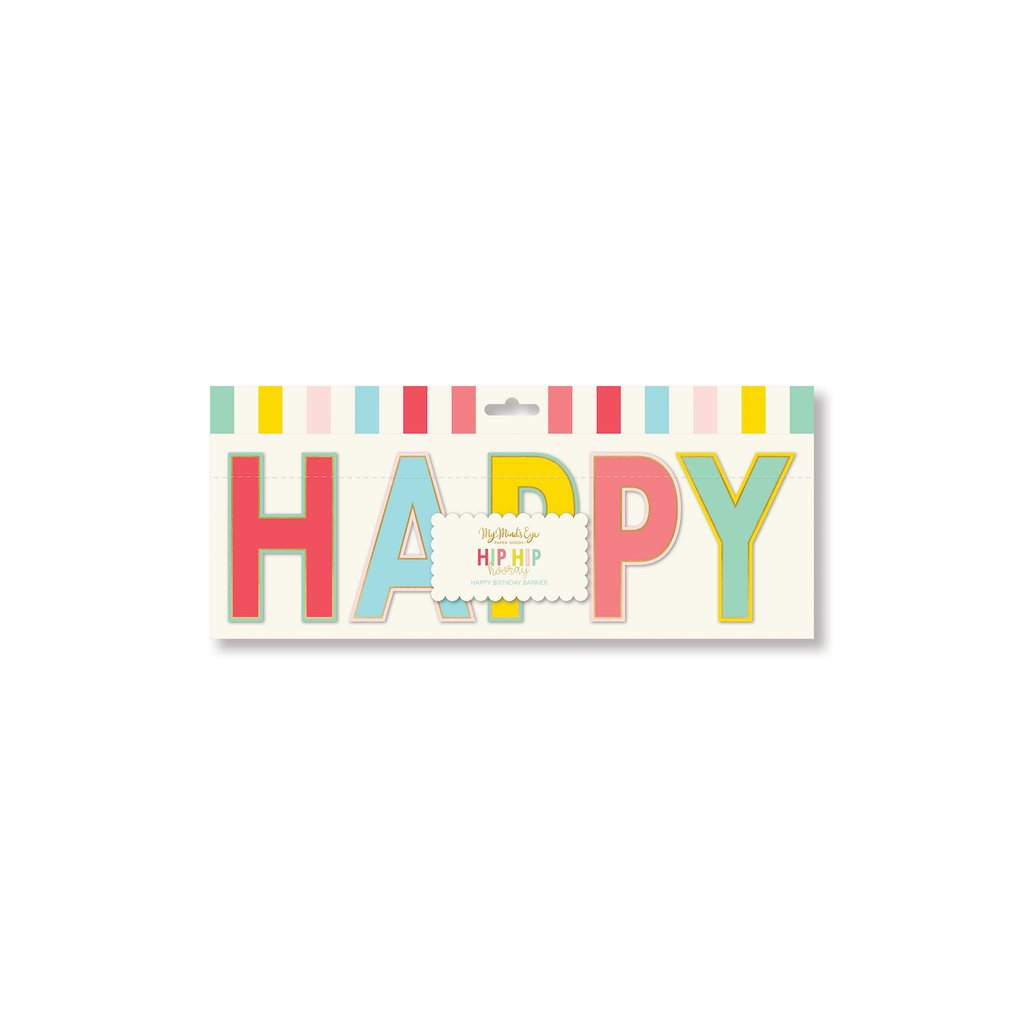 "Hip hip hooray ""happy birthday"" banner"