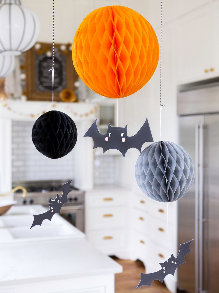 Honeycombs and bat decor