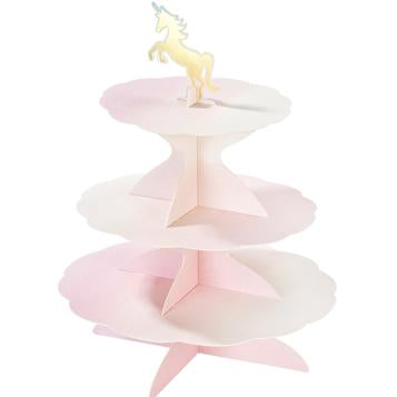 3 tier cake stand - unicorn, mermaid, swan