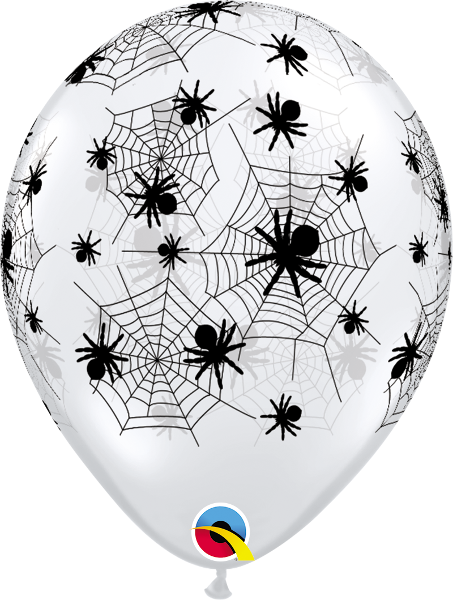 Halloween 11 inch spiderweb, bats and skeleton