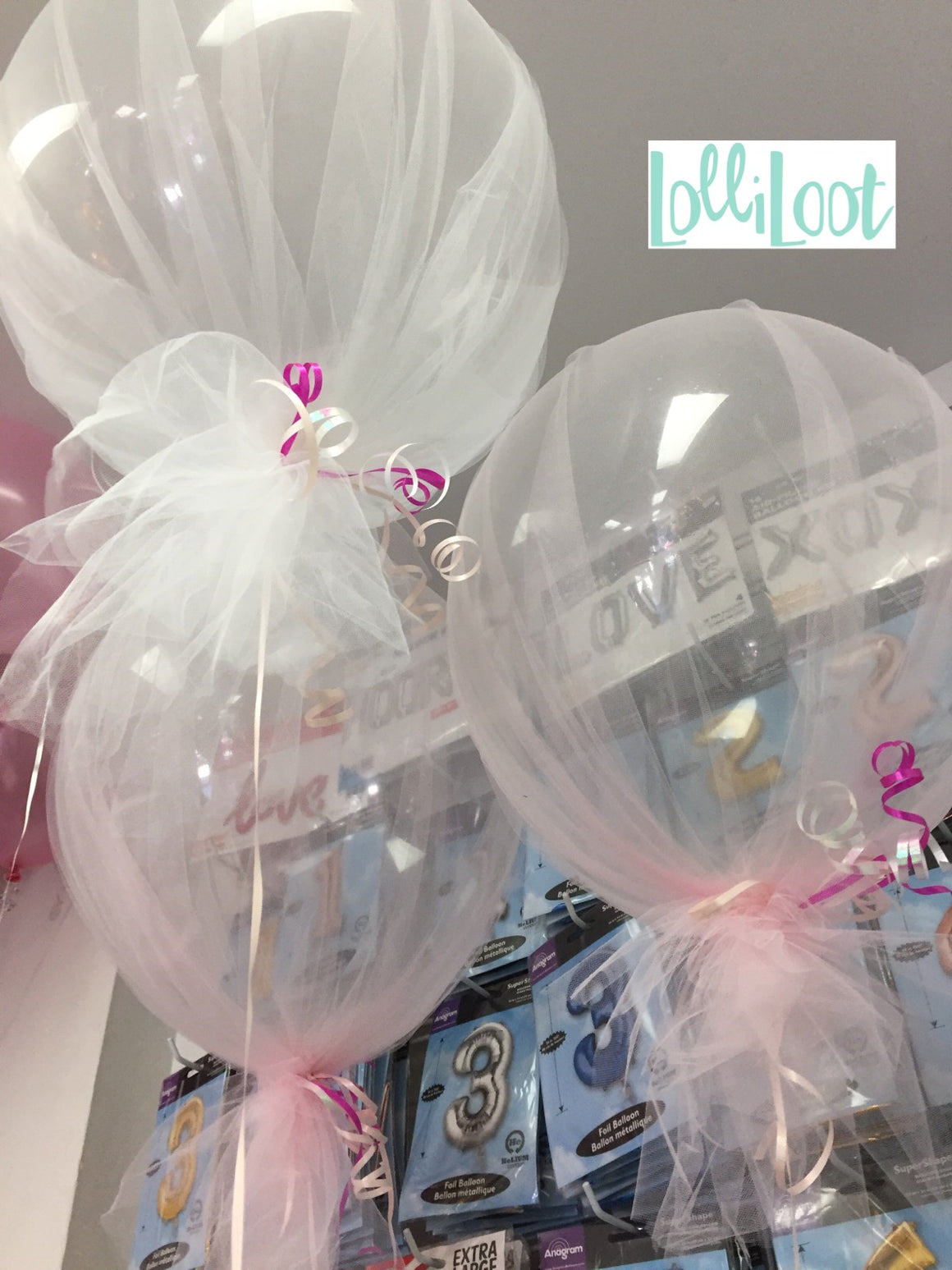 Clear tulle balloon