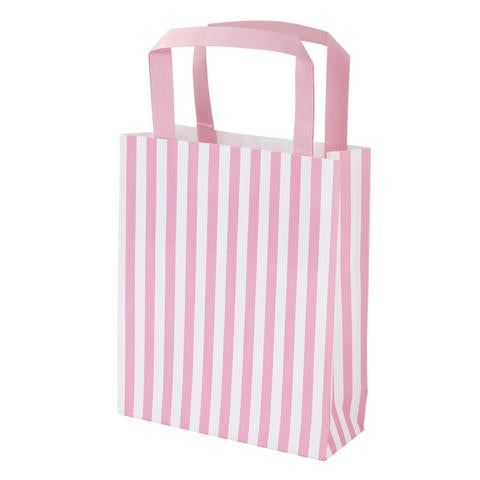 Pink striped party bags
