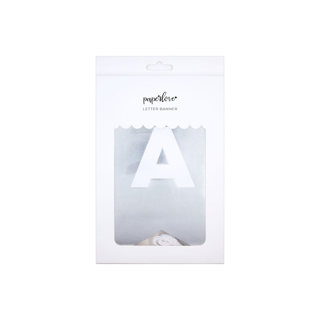 Silver letter banner - personalize