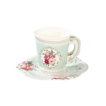 Truly scrumptious paper cups and saucers