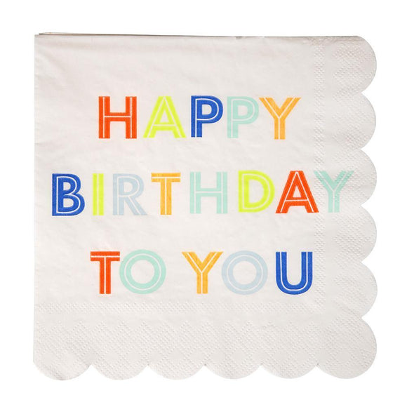 Happy birthday to you large napkins - Meri Meri