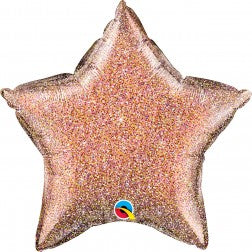 Glittergraphic rose gold star