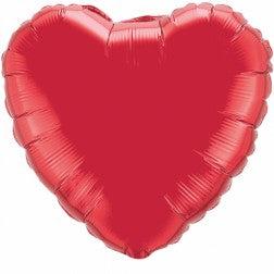 supershape 36 inch ruby red heart