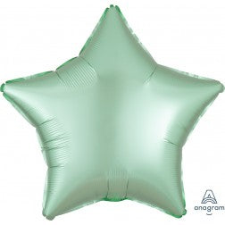 Satin luxe- mint green star