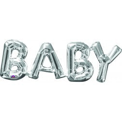 Air fill silver baby decor