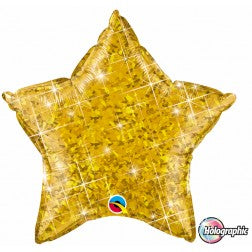 Gold holographic star