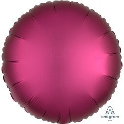 Satin luxe circle - pomegranate