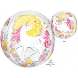 see through unicorn orbz balloon