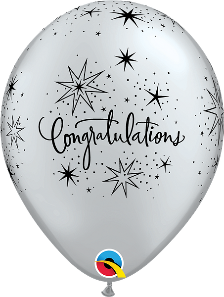 "11"" balloon - congratulations elegant"