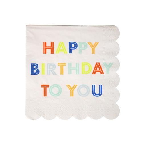 Happy Birthday Napkins small - Meri Meri