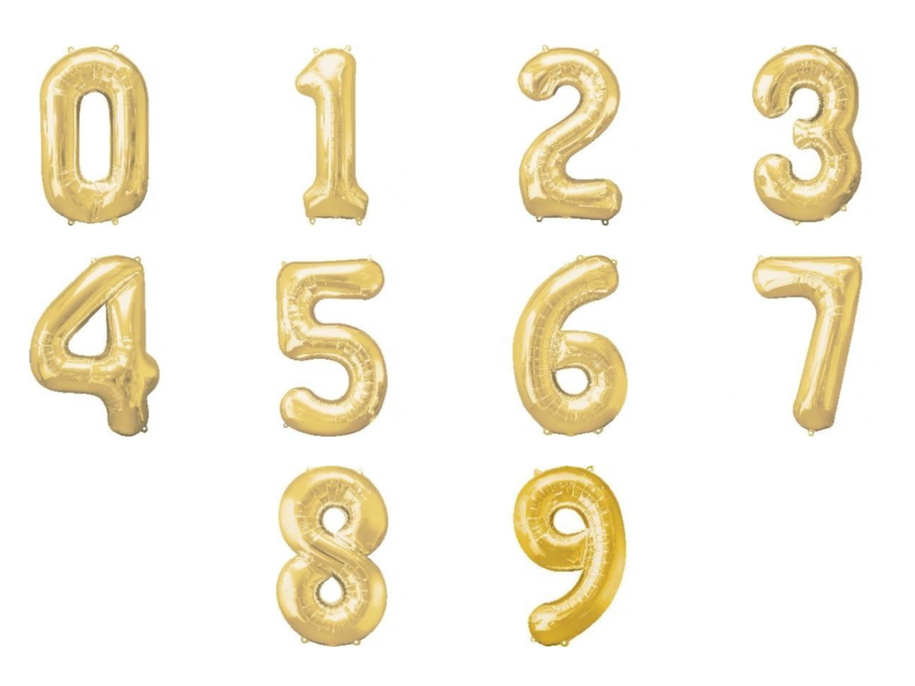 Gold giant numbers 0-9