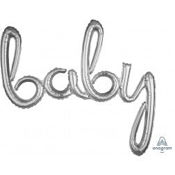 Air filled baby script balloon banner