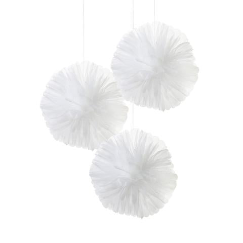 Tulle Pom poms pack of 3