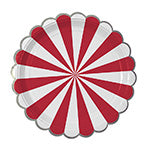 red and white stripe large plates - Meri Meri
