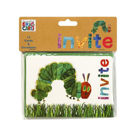 The very hungry caterpillar invitations