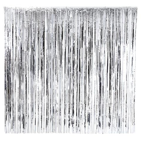 Silver fringe curtain
