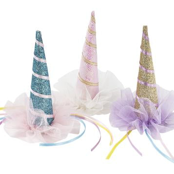 Unicorn horn clip on hats