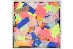 Rainbow confetti shapes - Meri Meri
