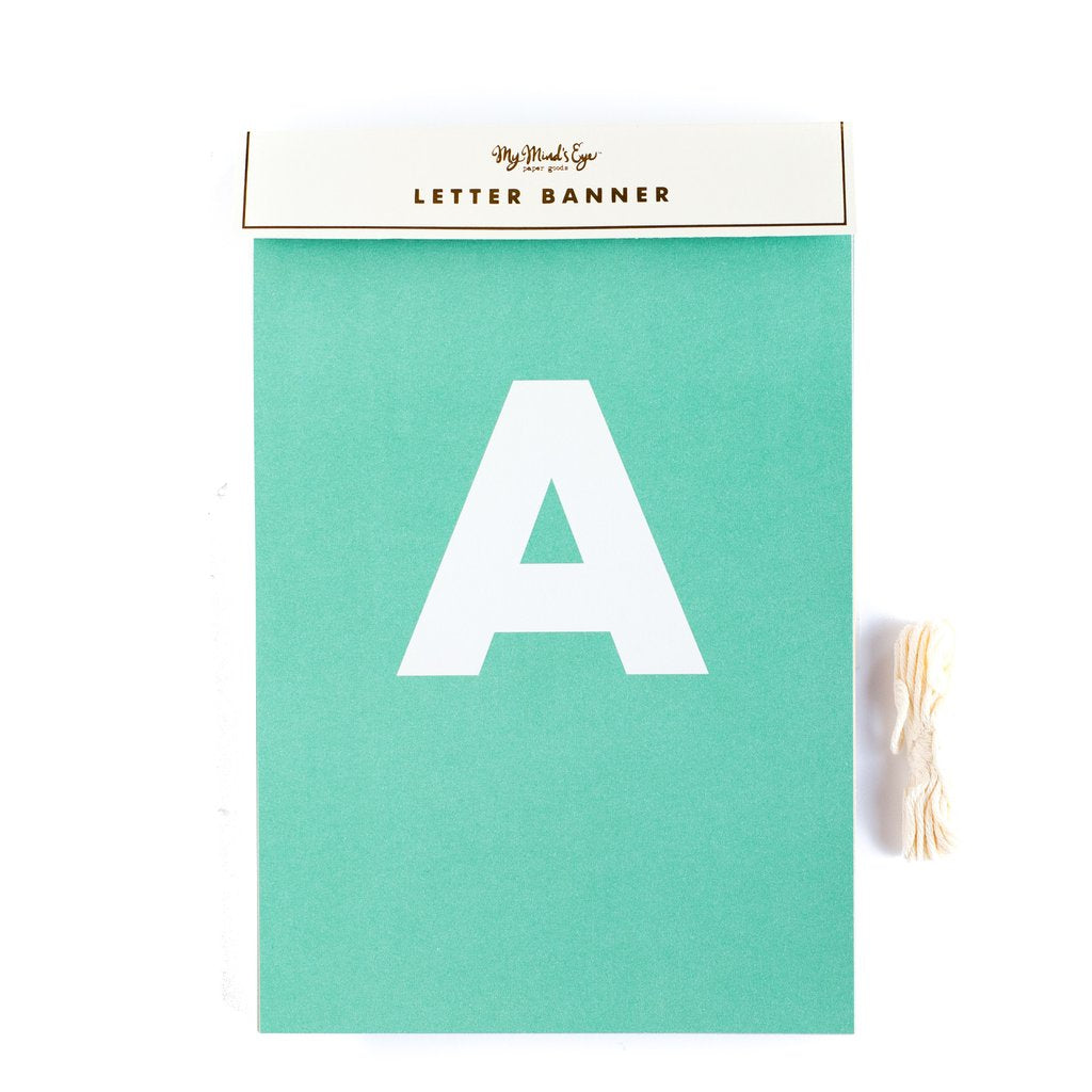 Letter banner - personalize