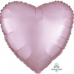Satin luxe heart - pastel pink