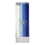 Blue/White glitter candles - Meri Meri