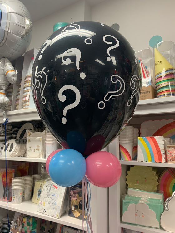 Gender reveal - helium inflated mid sized balloon