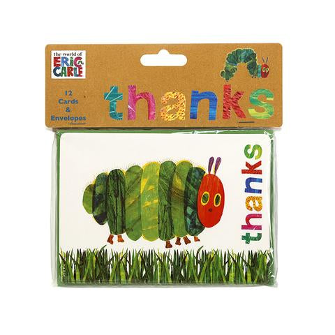 The very hungry caterpillar- Thank you cards - only available in Mississauga or for shipping