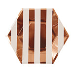 Rose gold hexagonal large plates - Meri Meri
