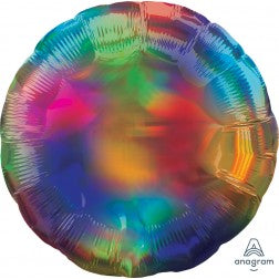 Holographic iridescent rainbow circle