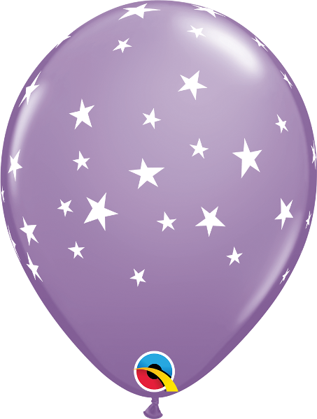 "11"" latex balloon - Contempo stars"