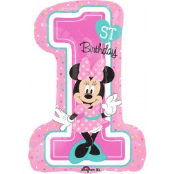 Age 1 Minnie Mouse supershape balloon