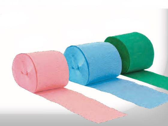 Crepe paper streamers - various colours