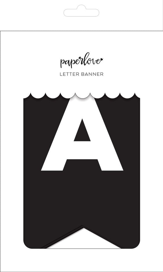 Onyx letter banner - personalize