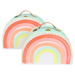 pack of 2 rainbow suitcases - Meri Meri