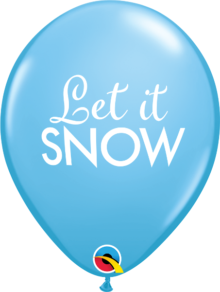 "11"" balloon - robins egg blue let it snow"